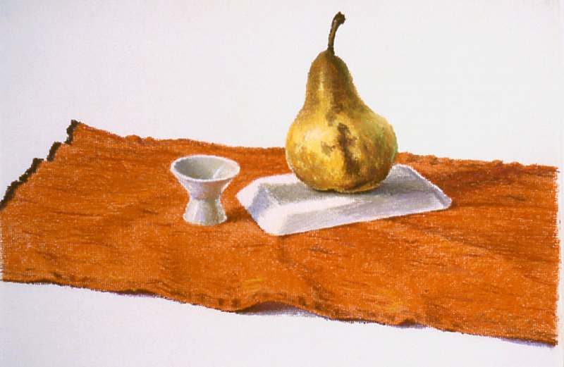 Still Life with Ripe Pear