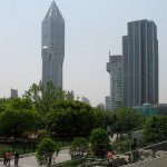 Tower of Marriott Tomorrow Square, seen from Renmin Park (People's Park), Shanghai