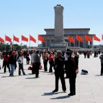 Looking south in Tiananmen Square toward Chairman Mao Memorial Hall