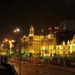 The Bund (Waitan, or the foreign embankment), old European style bank buildings along Huangpu River west shore