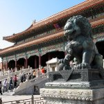 In the Forbidden City, former residence of Chinese emperors